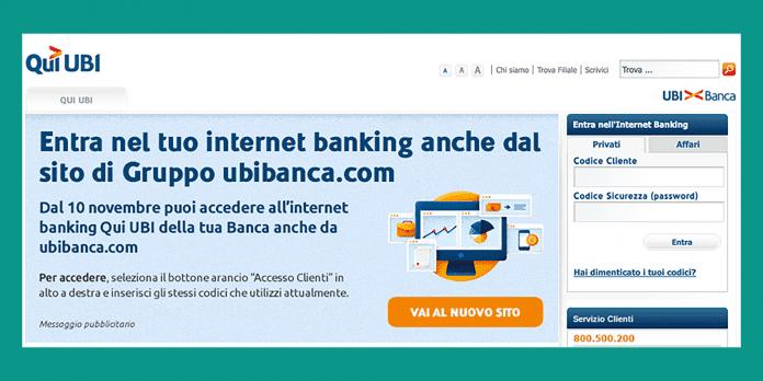 Qui UBI online banking